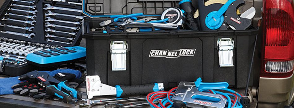 channellock tools in the back of a truck