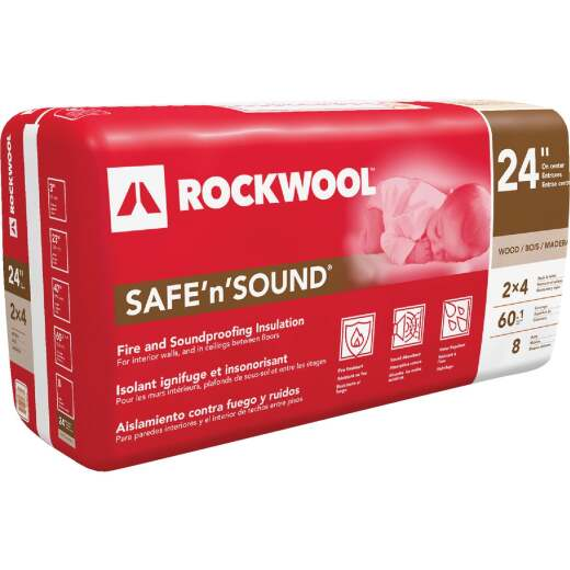 Rockwool Safe N Sound 24 In. x 47 In. Stone Wool Insulation (8-Pack)