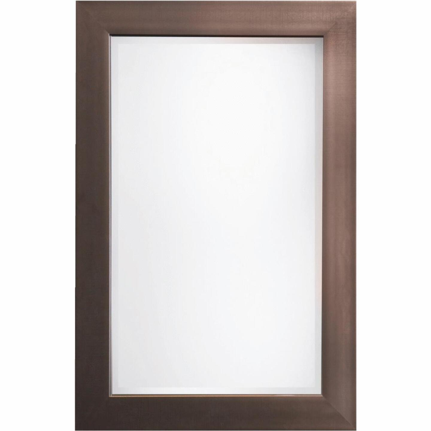Erias Home Designs Austin 24 In. W. x 36 In. H. Antique Pewter Plastic Framed Wall Mirror Image 1