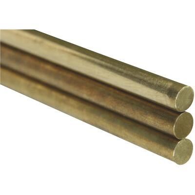K&S .114, .081, & .072 In. x 12 In. Solid Brass Rod (3-Count)