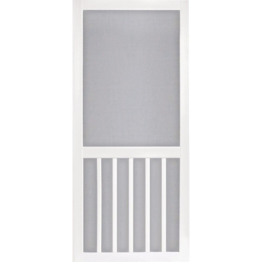 Screen Tight 5-Bar 36 In. W x 80 In. H x 1 In. Thick White Vinyl Screen Door