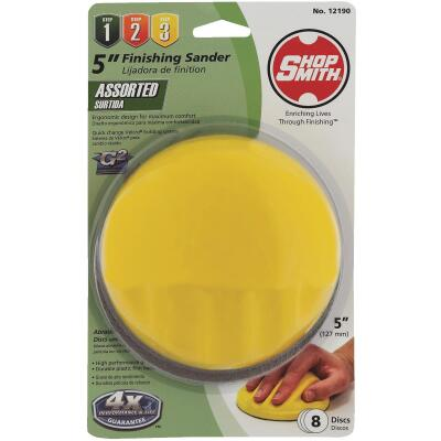 Gator Blade 5 In. Dia. Shop Smith Palm Hand Sanding Kit