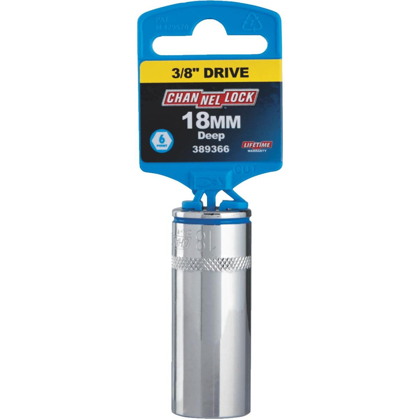 Channellock 3/8 In. Drive 18 mm 6-Point Deep Metric Socket Image 2