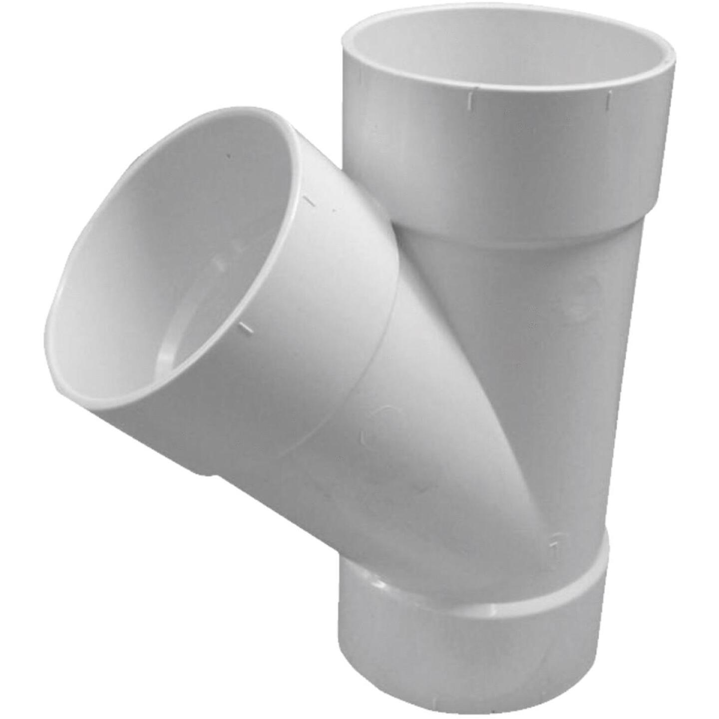 IPEX Canplas SDR 35 Hub 3 In. PVC Sewer and Drain Wye Image 1