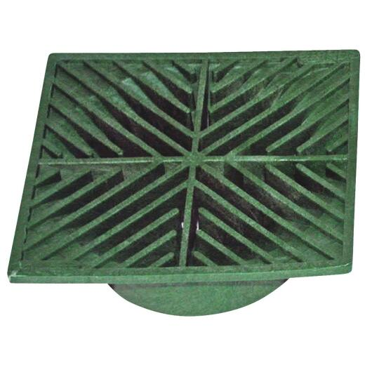 NDS 6 In. x 6 In. Green Polyolefin Square Grate