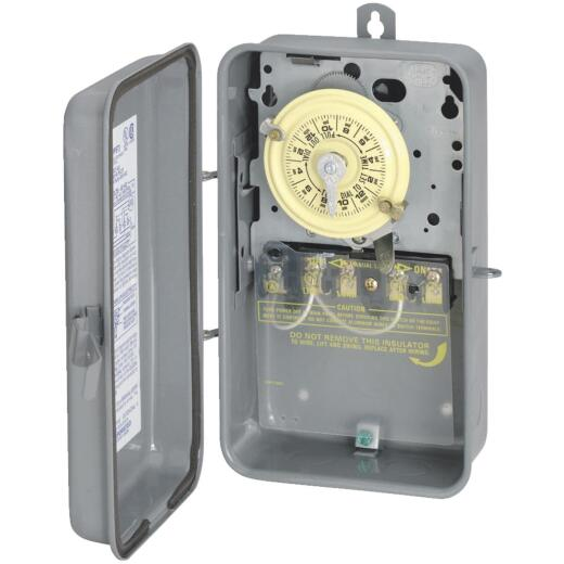 Intermatic 40A 277V 4000W Gray Raintight Outdoor Timer