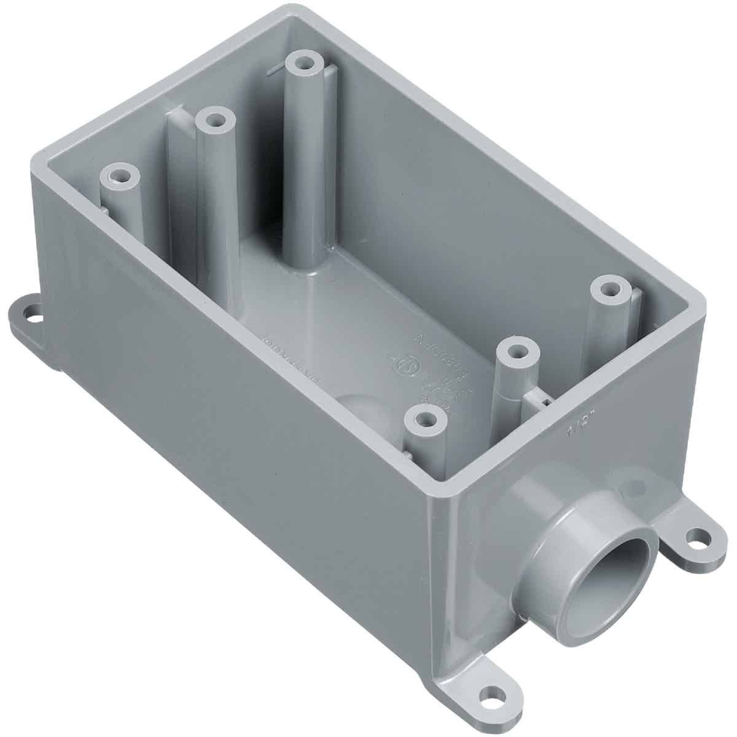 Carlon 1-Gang PVC Molded Rigid Non-Metallic Dead-End Termination Wall Box, 3/4 In. Outlet Image 1