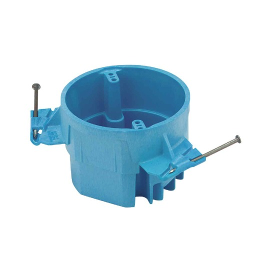 Carlon SuperBlue 50 Lb. Rating Nail On Thermoplastic Molded Ceiling Box