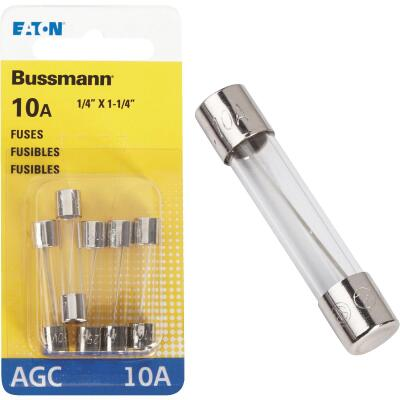 Bussmann 10-Amp 250-Volt AGC Glass Tube Automotive Fuse (5-Pack)