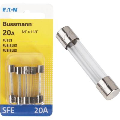 Bussmann 20-Amp 32-Volt SFE Glass Tube Automotive Fuse (5-Pack)