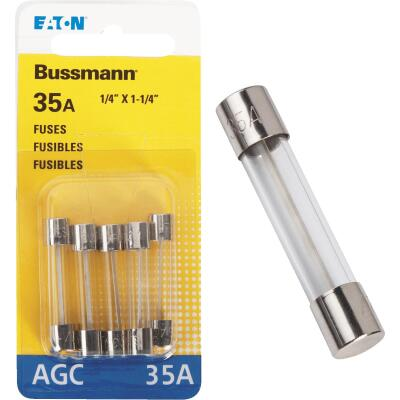Bussmann 36-Amp 32-Volt AGC Glass Tube Automotive Fuse (5-Pack)