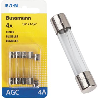 Bussmann 4-Amp 250-Volt AGC Glass Tube Automotive Fuse (5-Pack)