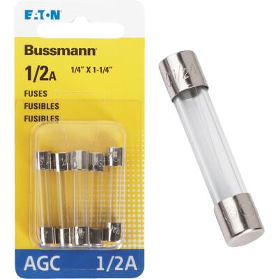 Bussmann 1/2-Amp 250-Volt AGC Glass Tube Automotive Fuse (5-Pack)