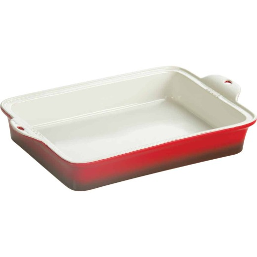 Lodge Stoneware 9 In. x 13 In. Red Baking Pan