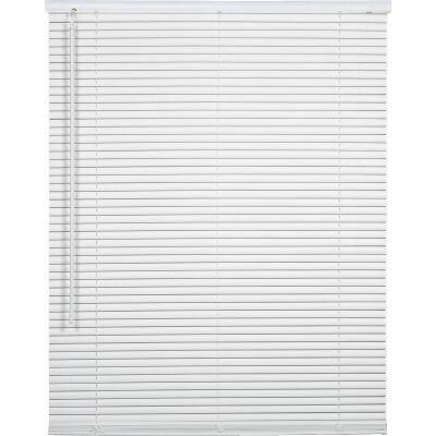 Home Impressions 23 In. x 42 In. x 1 In. White Vinyl Light Filtering Cordless Mini Blind