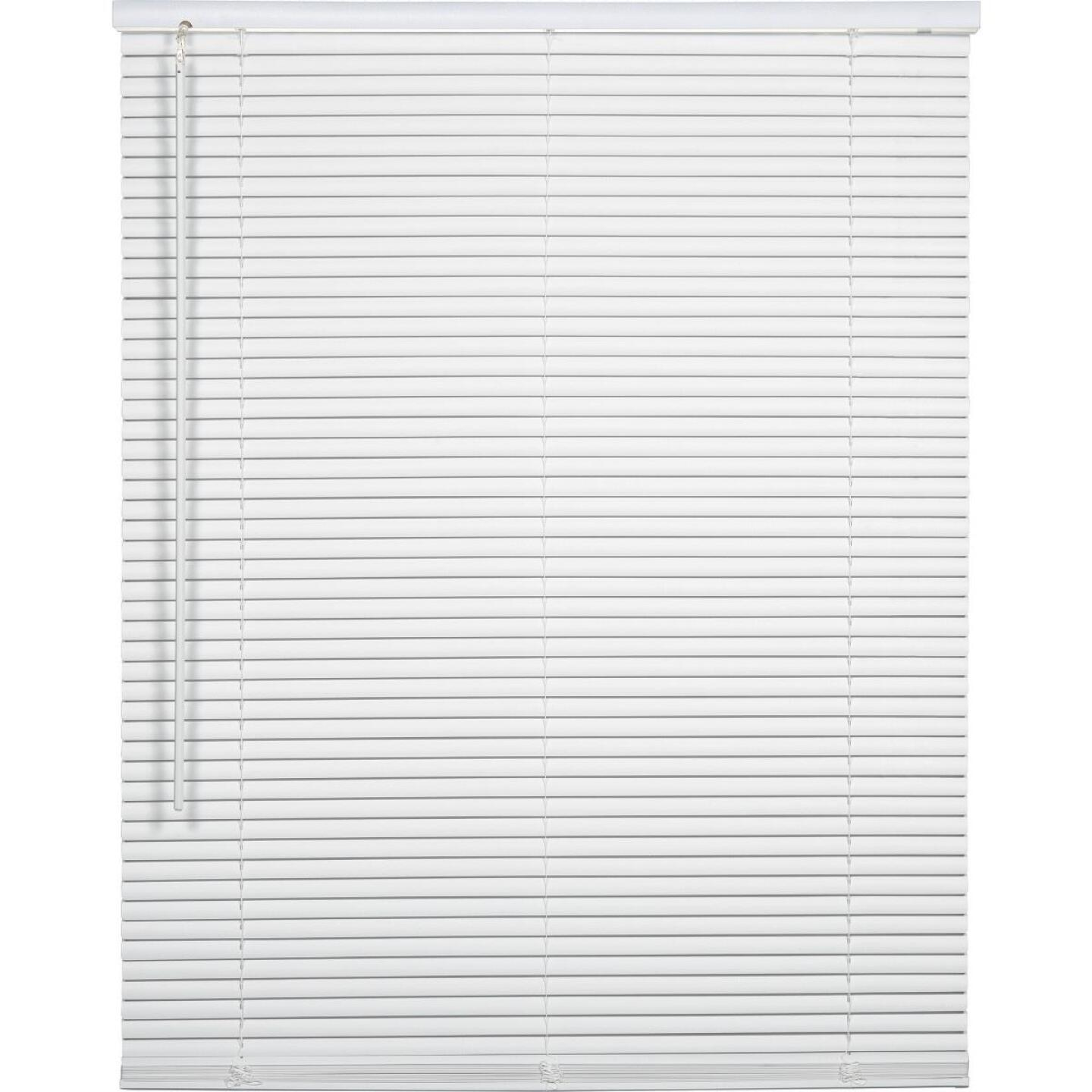 Home Impressions 39 In. x 64 In. x 1 In. White Vinyl Light Filtering Cordless Mini Blind Image 1