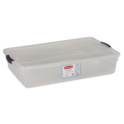 Rubbermaid 41 Qt. Clear Clever Store Latching Lid Storage Tote