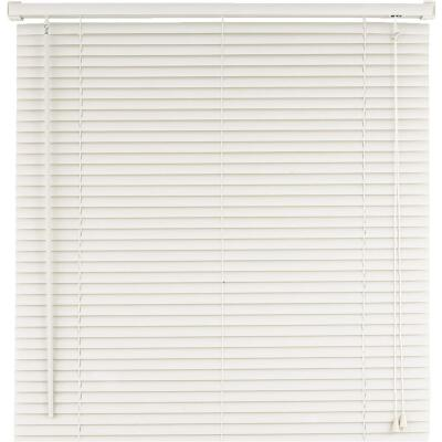 Home Impressions 60 In. x 64 In. White Vinyl Light Filtering Corded Mini-Blinds