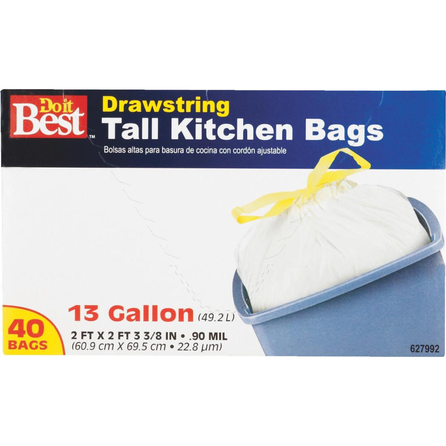 Do it Best 13 Gal. Tall Kitchen White Trash Bag (40-Count) Image 5
