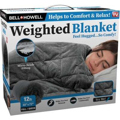 Bell+Howell 48 In. x 72 In. Full/Queen 12 Lb. Weighted Blanket