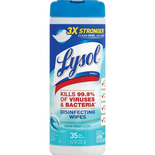 Lysol Ocean Fresh Disinfecting Wipes (35-Count)