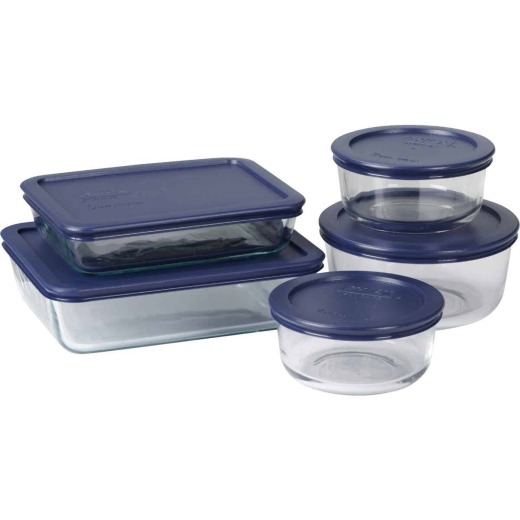 Pyrex Glass Storage Bakeware Set (10-Piece)