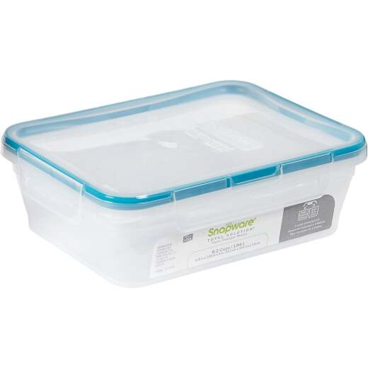 Snapware Total Solution 8.2 Cup Plastic Rectangle Food Storage Container with Lid