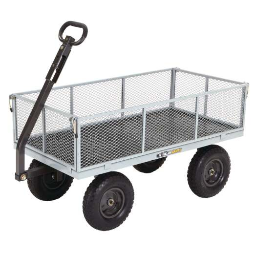 Gorilla Carts 6 Cu. Ft. 1000 Lb. Steel Tow-Behind Garden Cart