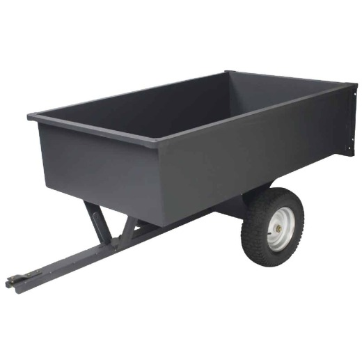 Precision 17 Cu. Ft. 1500 Lb. Steel Tow-Behind Garden Cart