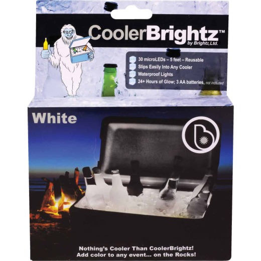 Cooler Brightz White MicroLED 30-Bulb 5Ft. Cooler Light Set