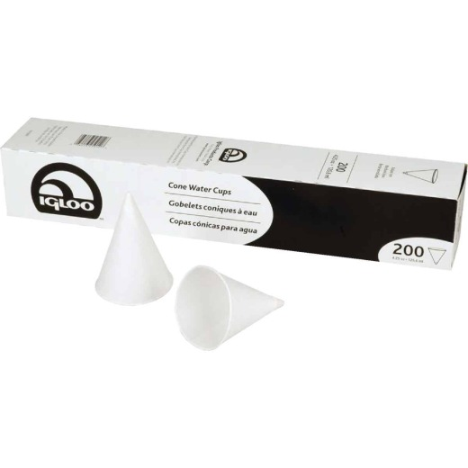 Igloo 4.25 Oz. Cone Paper Cups (200-Pack)