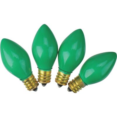 J Hofert C7 Green Ceramic 125V Replacement Light Bulb (4-Pack)